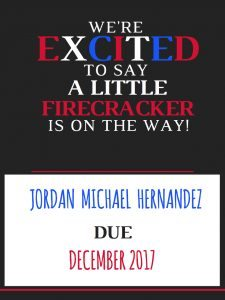 Free printable July pregnancy announcement signs from HealthyPregnancy.com