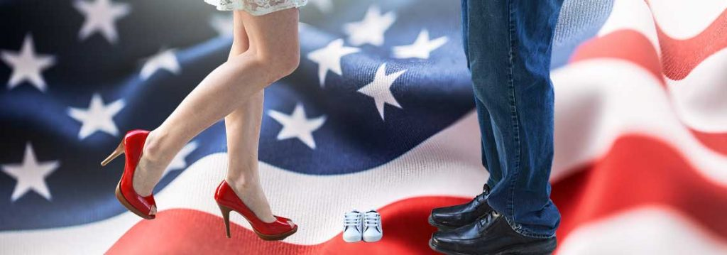 July Pregnancy Announcement Ideas: Red, White and Due! 1