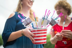 July Pregnancy Announcement Ideas: Red, White and Due!